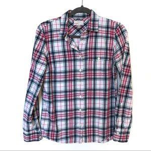 J. Crew Boy Fit Plaid Button Front Shirt